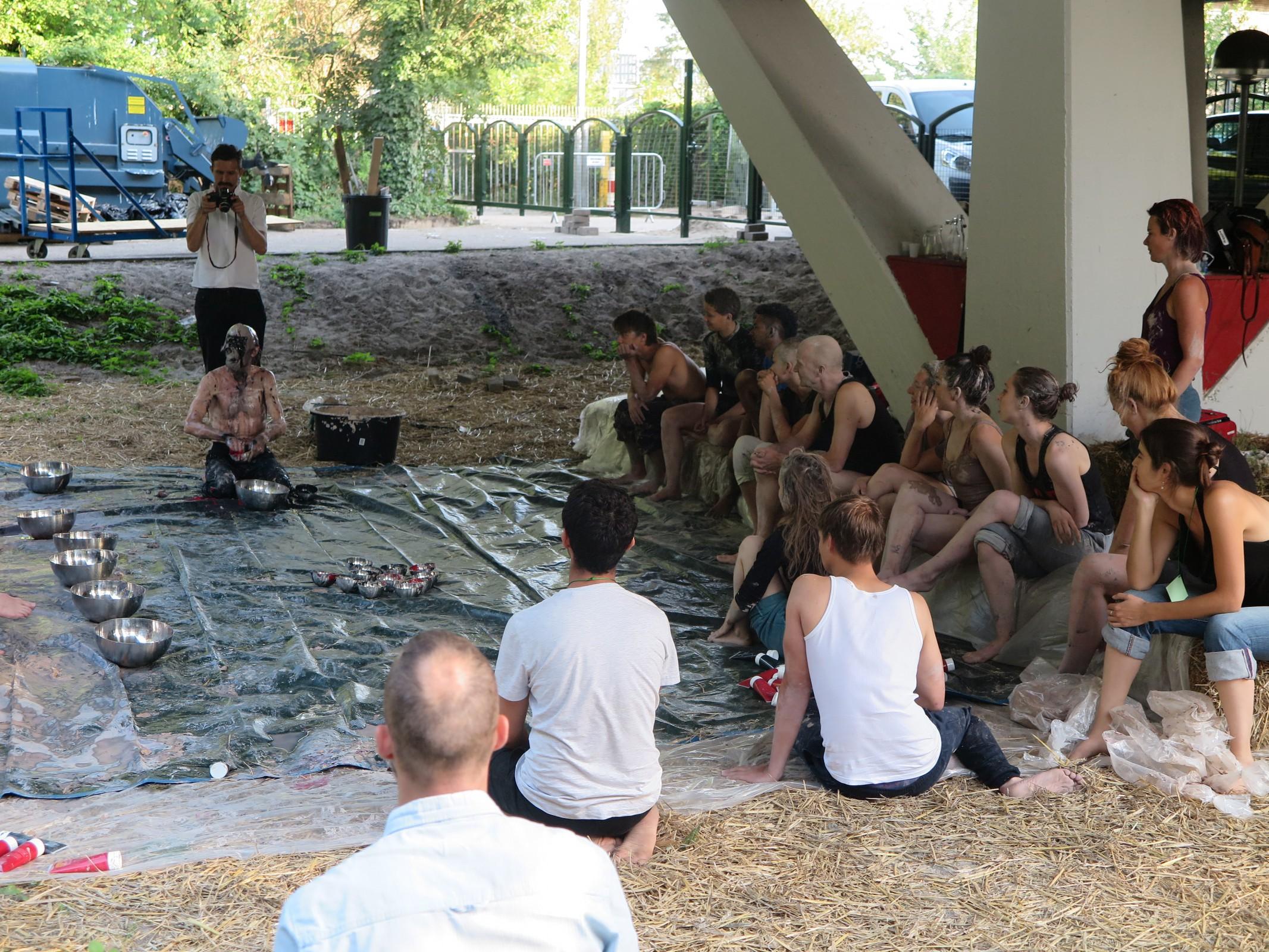 Workshop 'Hybridation' door Olivier de Sagazan