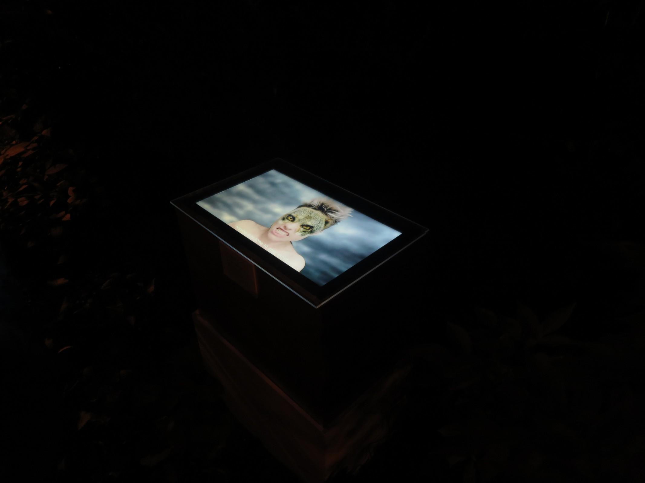 Video ergens opgesteld in de tuin, maker video onbekend.