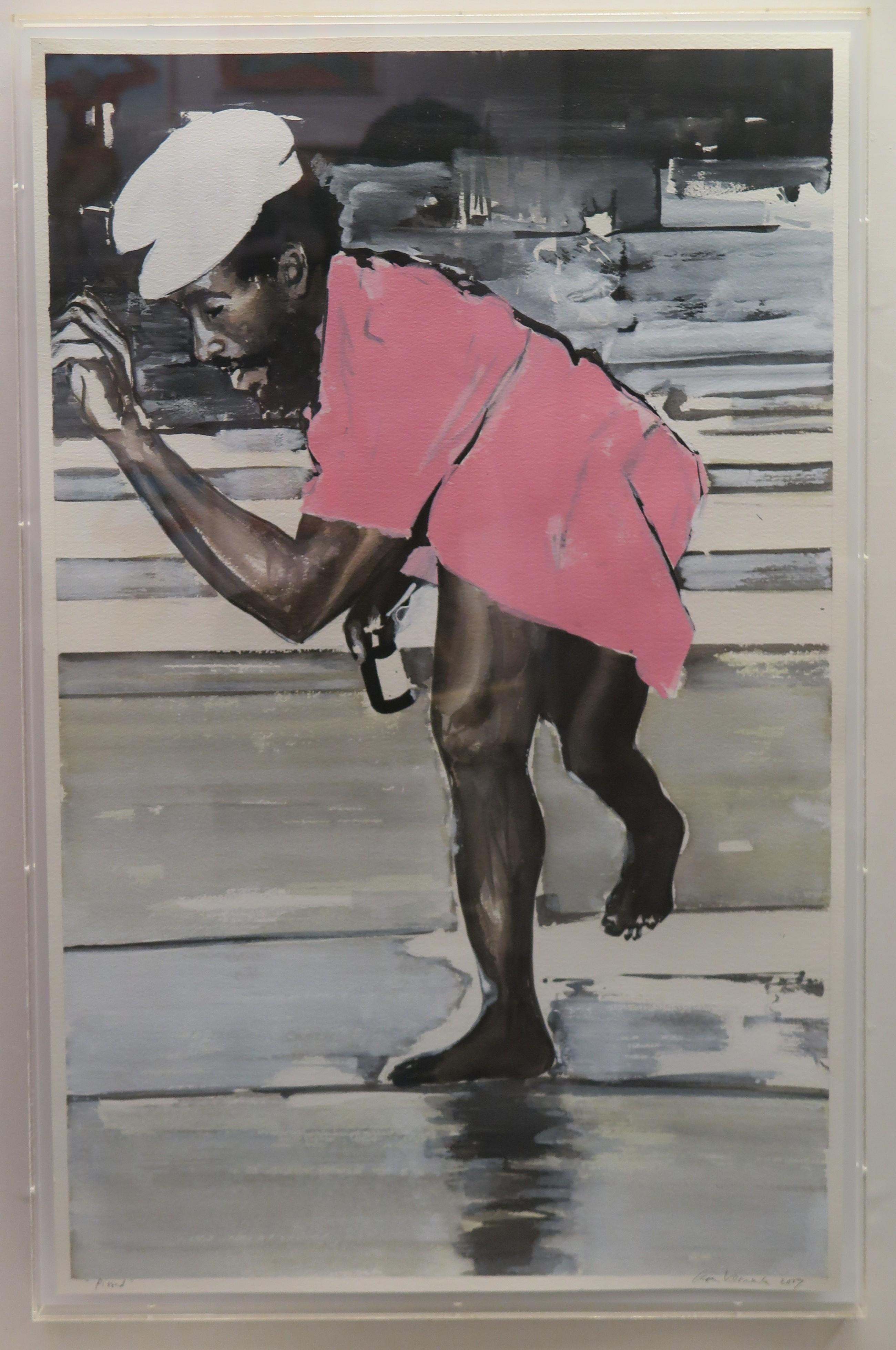 Koen Vermeule - Pissed - 2016, aquarel en gouache