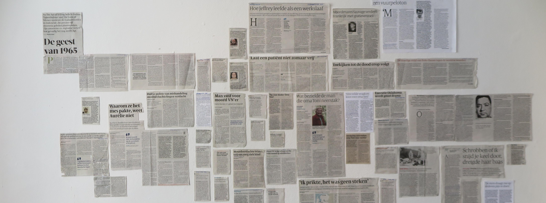 Krantenartikelen verzameld door Monica Overdijk